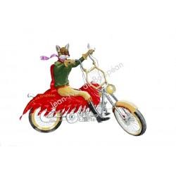 Renarde en moto