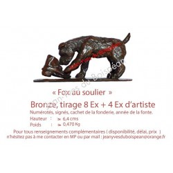 Fox au soulier (bronze)